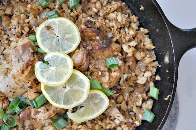 parmesan cauliflower rice garlic chicken 1