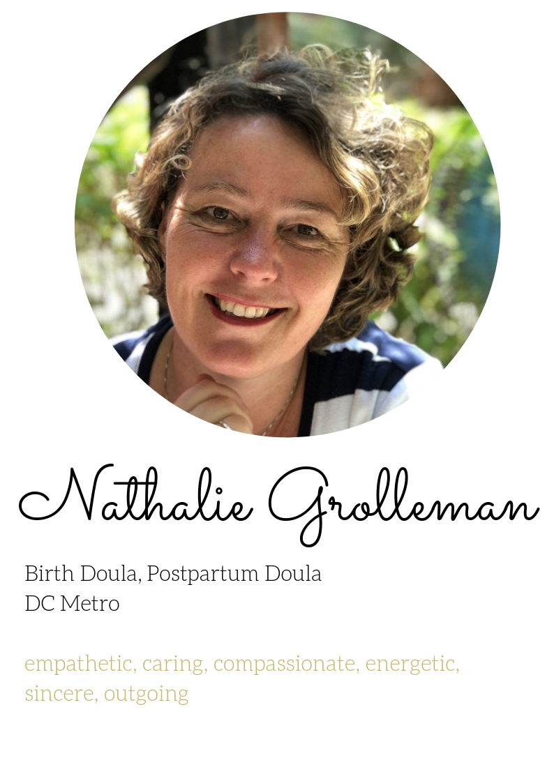 Nathalie grolleman birth and postpartum doula experienced northern virginia dc