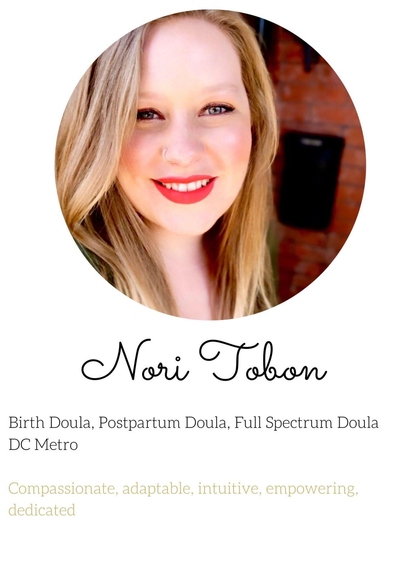 Nori  birth doula northern virginia experienced dc