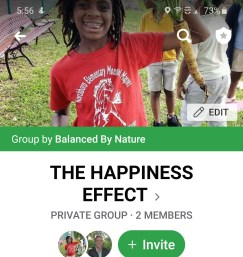 Facebook group The happiness effecct