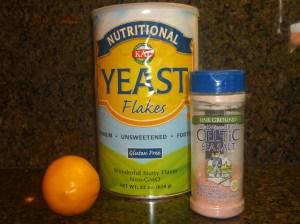 Add the Nutritional Yeast, Lemon, & Salt