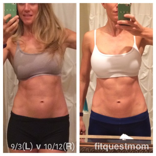 9.3.15 vs. 10.12.15 FitQuestMom Abs