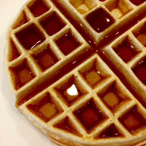 Balanced Grettie Lower Carb Gluten Free Waffle with Syrup