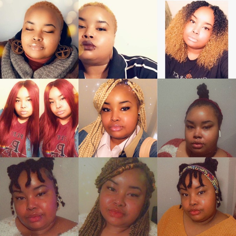 Different hair styles to showcase hair journey