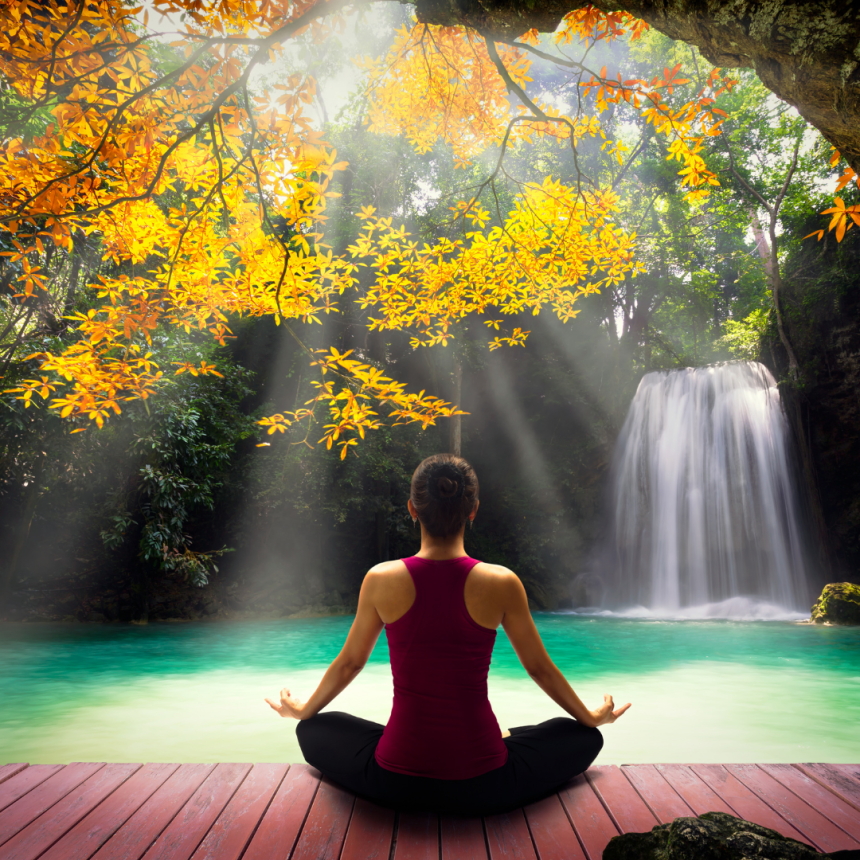 Meditating as a form of self-care to bring balance back into life