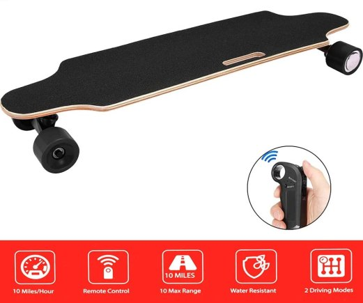 Electric skating board for skaters
