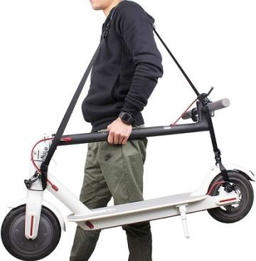 Carrying straps for electric scooter