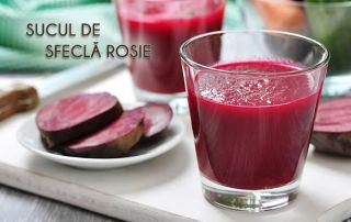 Suc de sfeclă roșie făcut cu Slow Juicer Ulysses/Storcatorul prin presare la rece