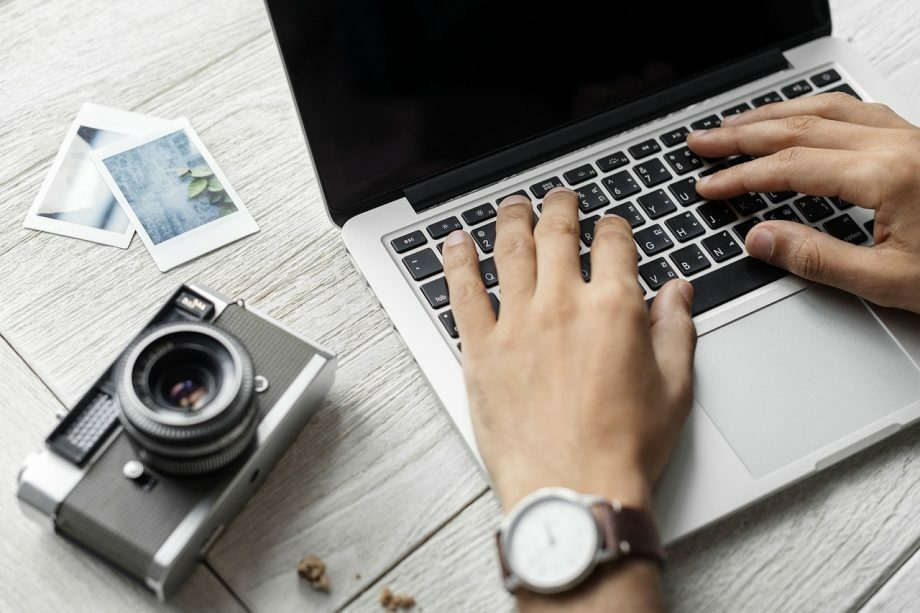 laptop and camera