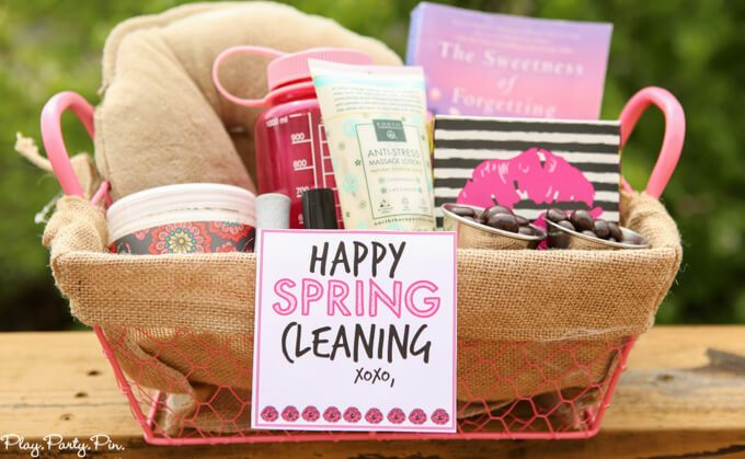 spring cleaning gift basket