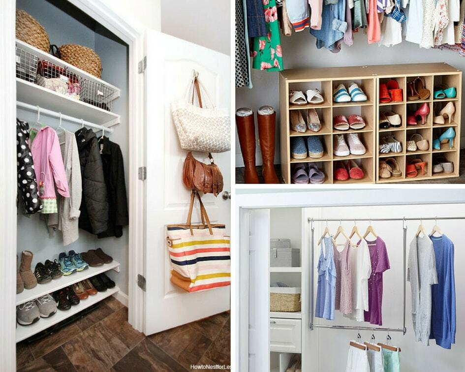 for busy organization tricks hacks coat closet families