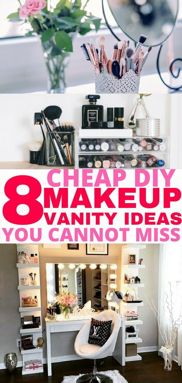 8 Easy DIY Makeup Vanity Ideas