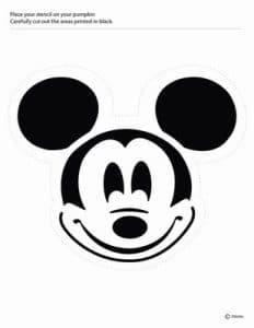 Mickey Mouse pumpkin carving stencil