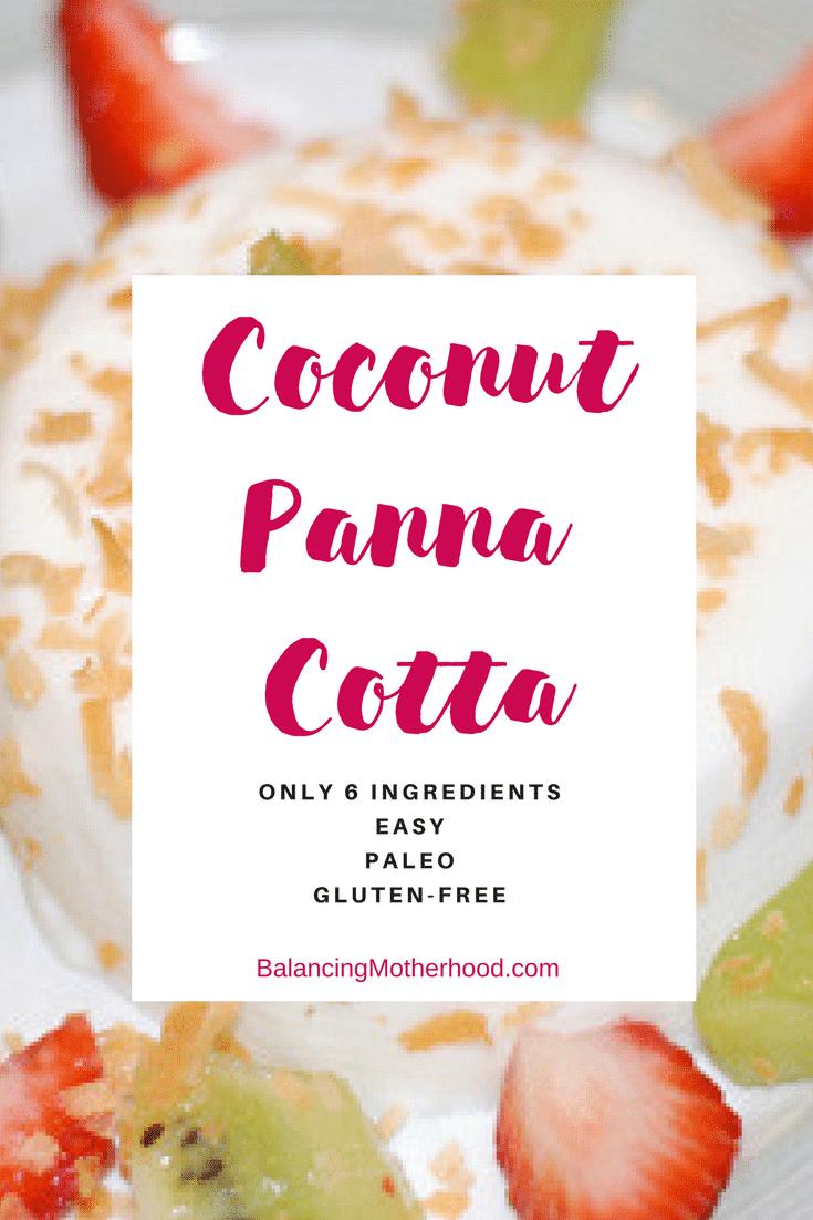 Coconut panna cotta. So easy to make. #pannacotta #dessert #paleo