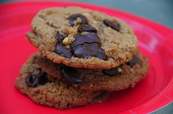 almond butter chocolate chip cookie