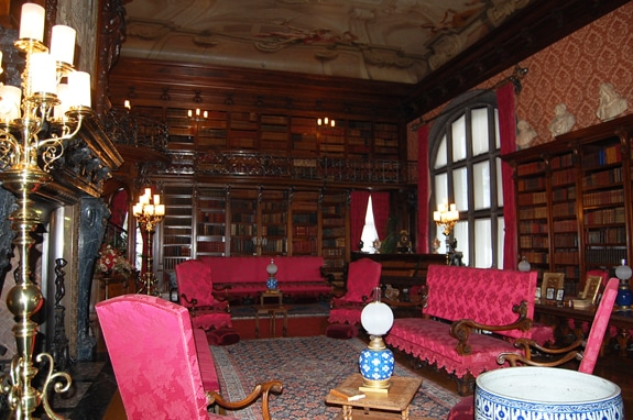 The library at The Biltmore House Asheville NC