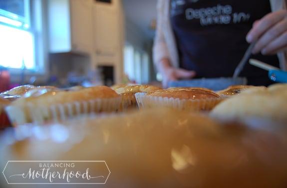 blueberry pancake muffin