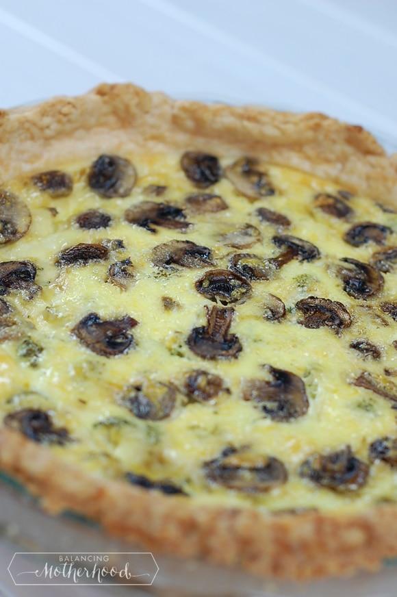 mushroom and swiss cheese quiche