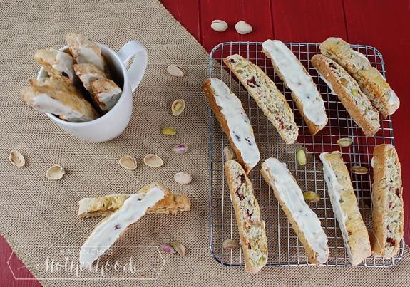 cherry and pistachio biscotti