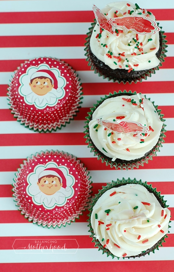 Elf on the Shelf cupcakes