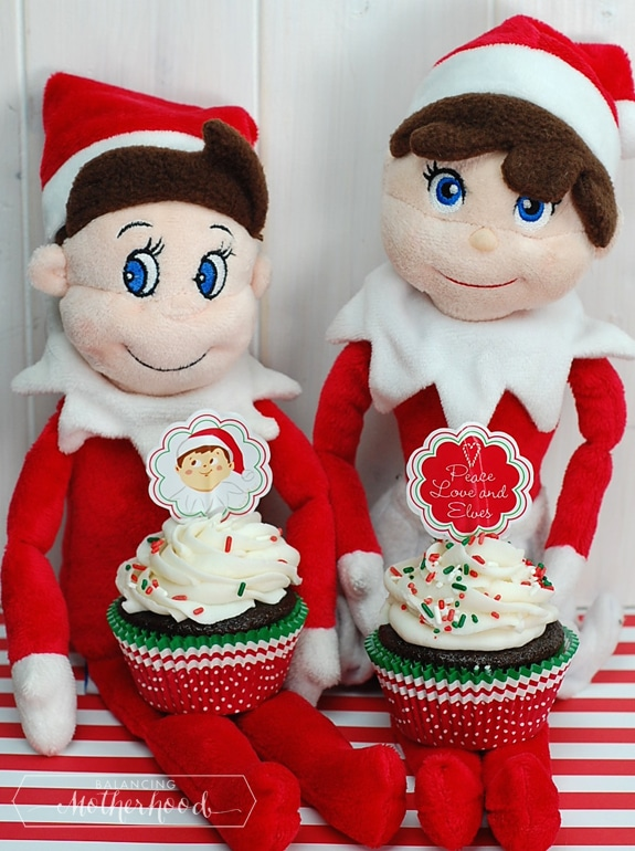 Elf on the Shelf cupcake