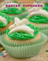 Easter cupcakes -- cute and easy to make with chocolate candy molds
