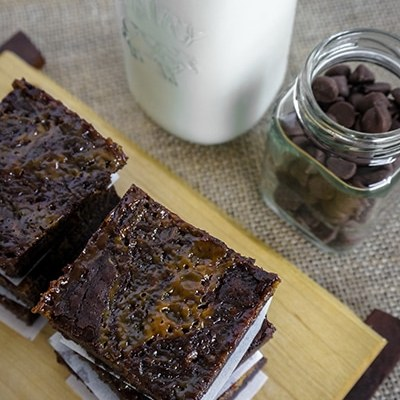 salted caramel brownie