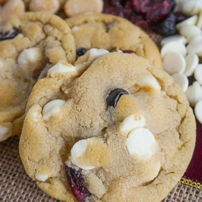 White Chocolate Chip, Dried Berry and Macadamia Nut Cookies