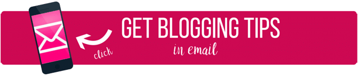 Get blog tips in email