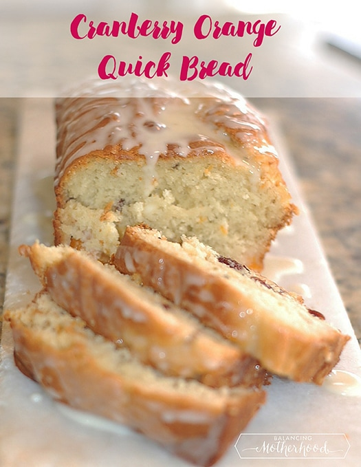 Cranberry orange quick bread