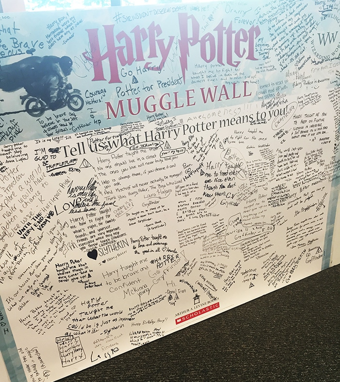 Harry Potter Muggle Wall  What Harry Potter Means to Me!