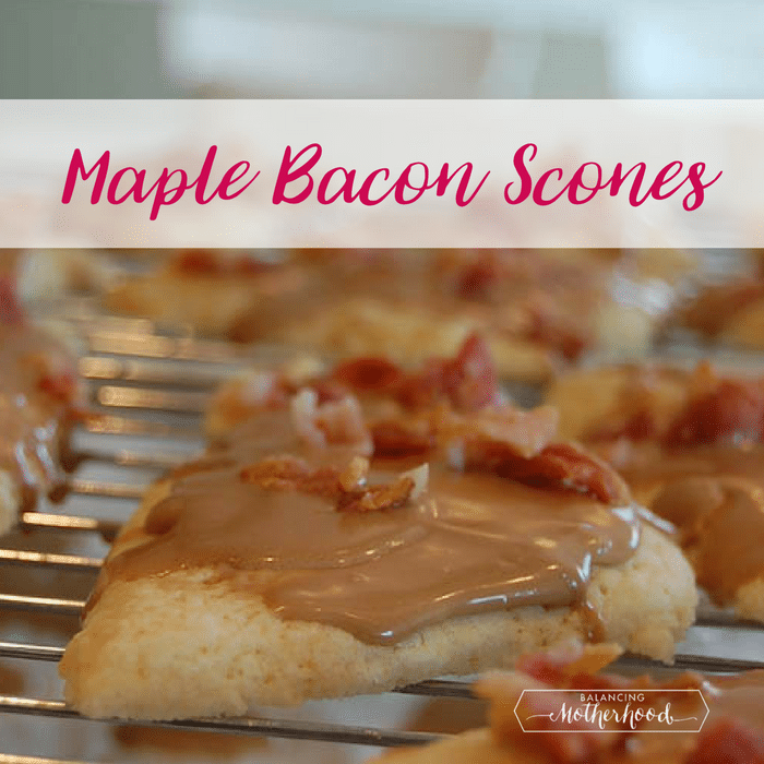 maple bacon scones