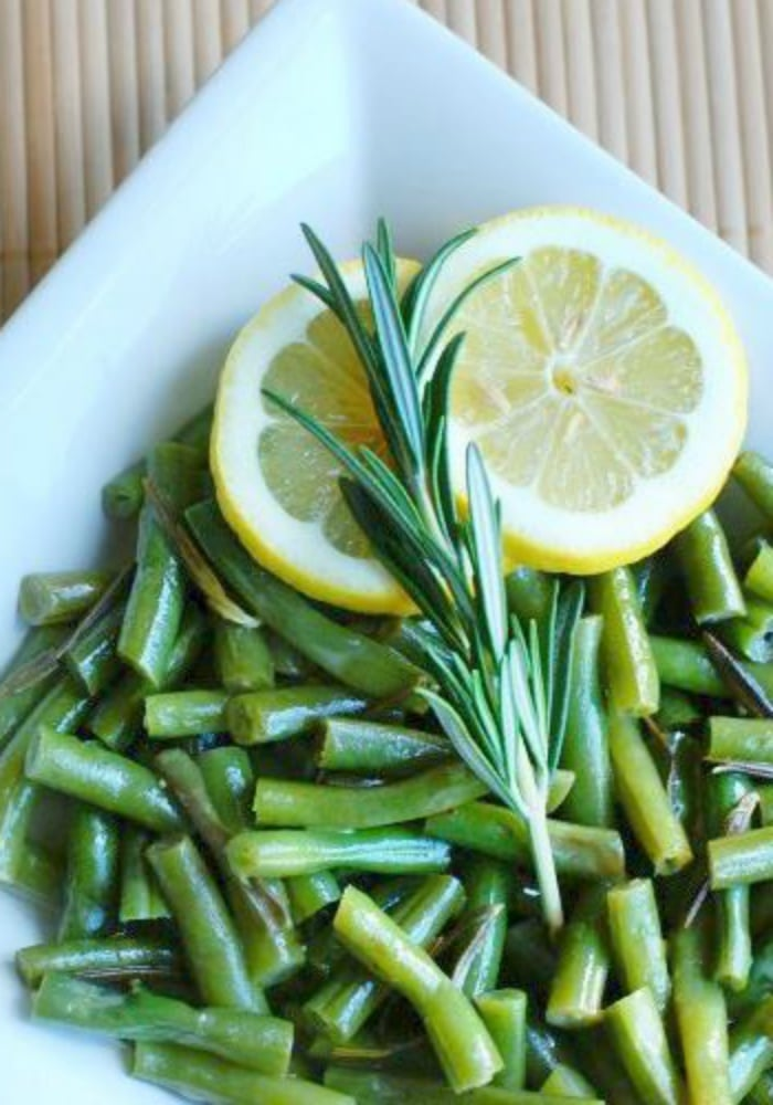 green beans with rosemary