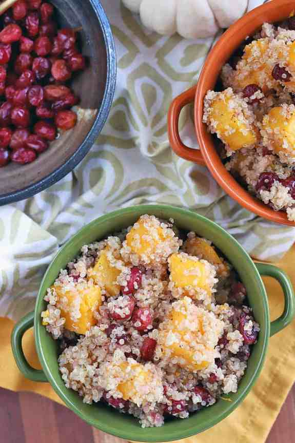 Quinoa recipe with butternut squash