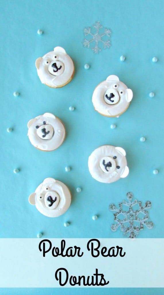 These polar bear donuts make a great Christmas breakfast treat.