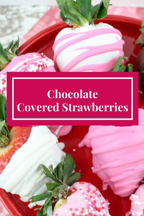 pink and white chocolate covered strawberries