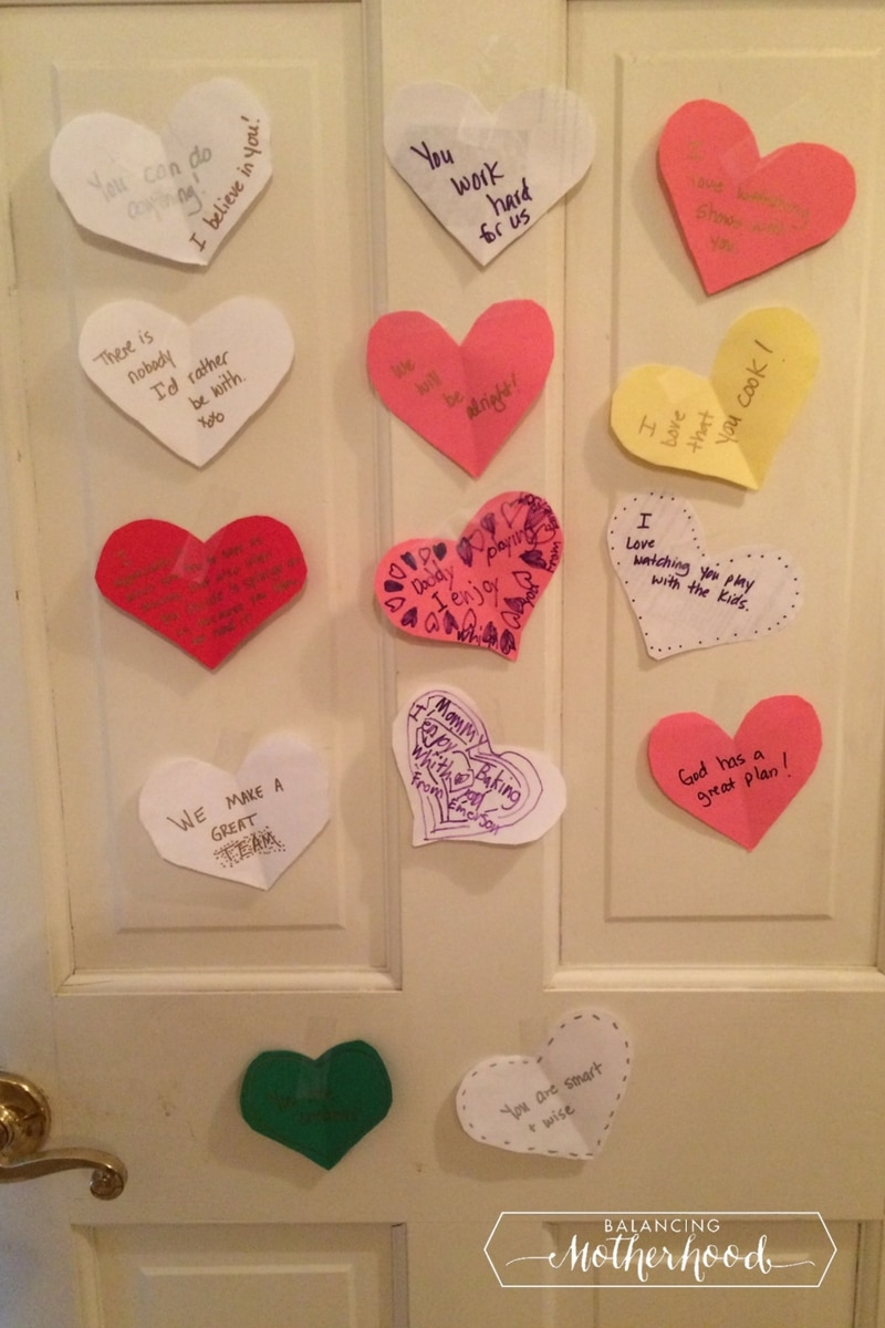 door with hearts on it