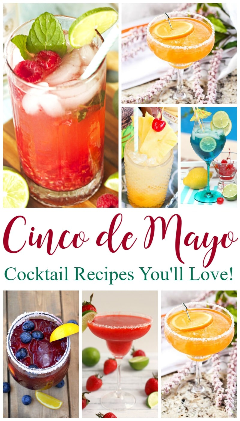 Cinco de Mayo cocktail recipes you'll love. More than 15 cocktail recipes you can easily make at home. Try one tonight!