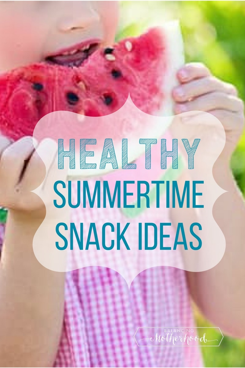 Healthy snacks that kids love. Great ideas for summertime snacks!