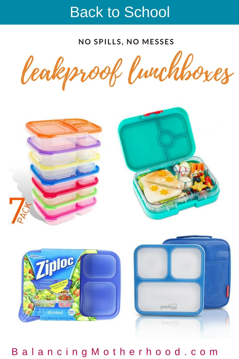 Back to school leakproof lunch boxes