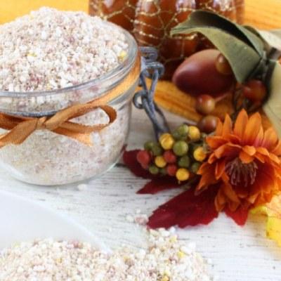 DIY Pumpkin Spice Salt Scrub