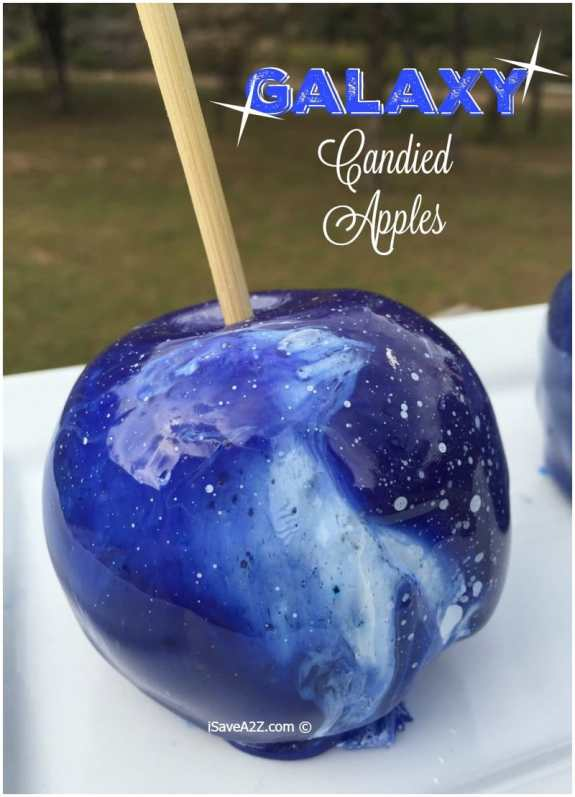 Galaxy candy apples
