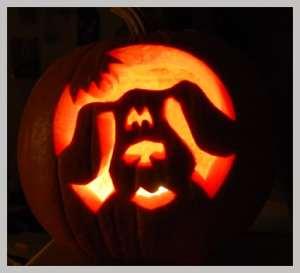 Step by step Blues Clues pumpkin carving stencil