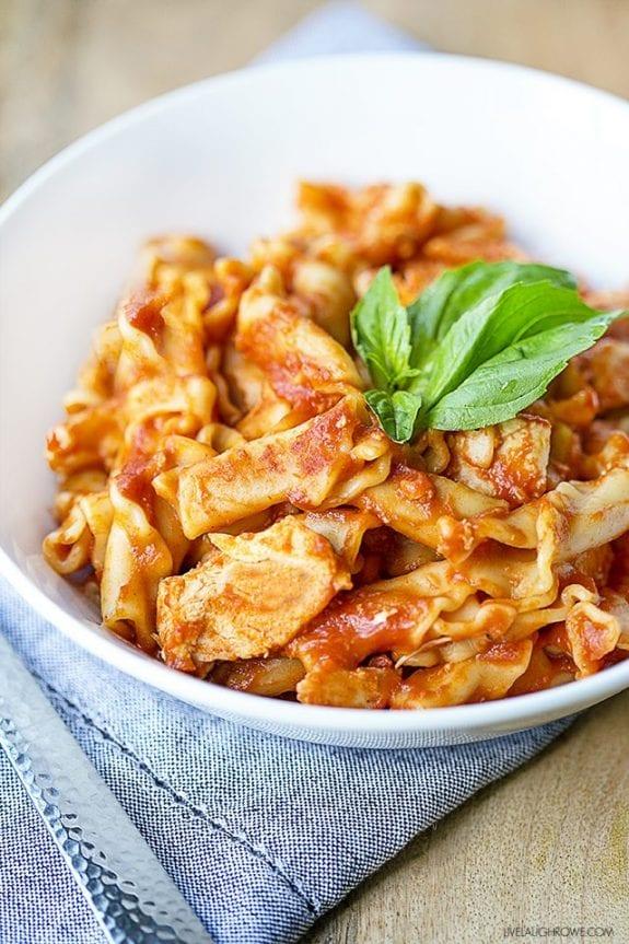 Instant pot frozen chicken pasta recipe
