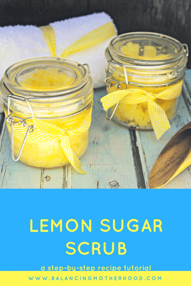 Lemon sugar scrub