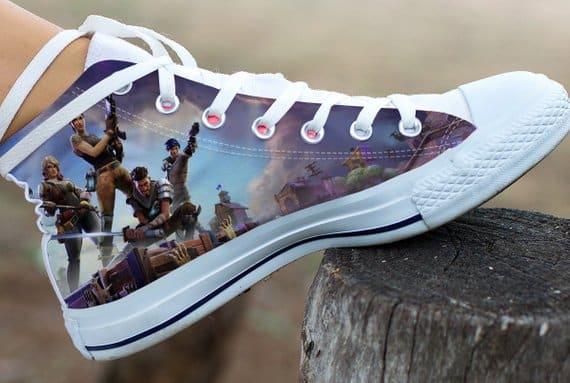colorful Fortnite converse-like shoes