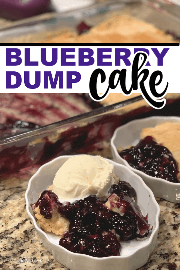 The best blueberry dump cake recipe. It just takes three ingredients and you have an amazing dessert ready for a crowd!
