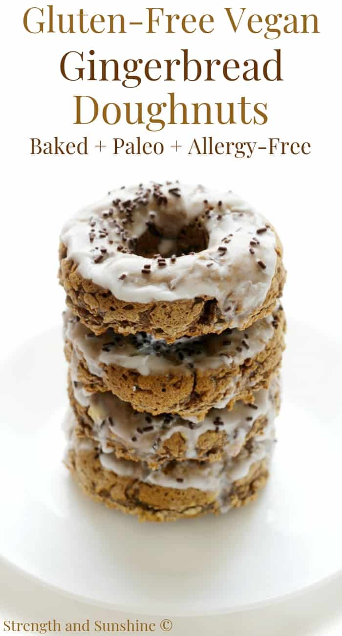 Baked Gluten-Free Vegan Gingerbread Doughnuts (Allergy-Free, Paleo)