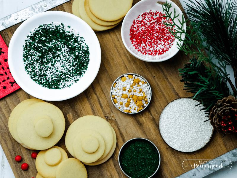 sugar cookies and sprinkles