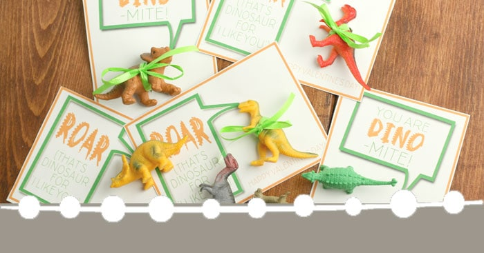DIY Dinosaur Valentines (with a free printable!)